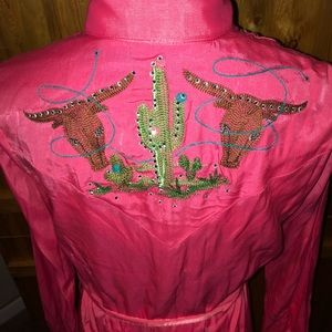 💖🌵NWT Wrangler Dress Bling Cactus Steer Head